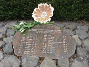 Marigold plaquette bij Monument het Looveer te Huissen