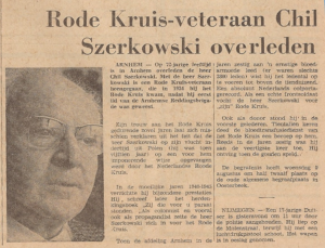 Chill Szerkowski krantenartikel