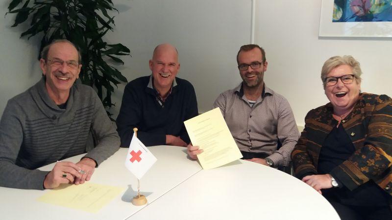 contractondertekening Rode Kruis