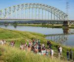 Euregionaal project 'Het water als wapen'.  Educatief programma Arnhem - Watermuseum en Ooijpolder Hollandsch Duitsch gemaal.