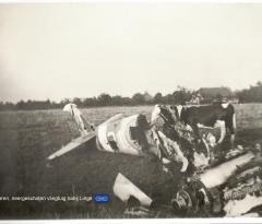 Neergeschoten vliegtuig bij Linge Angeren