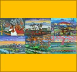 6x WOII ansichtkaarten van schilder Cor Melchers